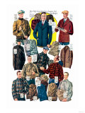 Men's Shirts, Sweaters, and Wind Breakers Print