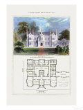 Tudor Manor House, Henry VIII Prints by Richard Brown