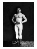 Bodybuilder in Leotard and Boots Affiches