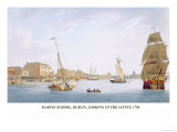 Marine School, Dublin, Looking Up the Liffey, 1796 Prints by James Malton