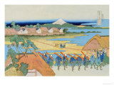 Japanese Army Drill Prints by Katsushika Hokusai