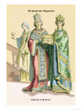 Emperor and Princess of Byzantine, 8th Century Prints by Richard Brown