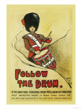 Follow the Drum Posters by John Hassall