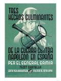 Tres Hechos Culminantes de la Guerra Contra Napoleon En Espana Poster
