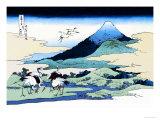 Cranes Nearby Mount Fuji Kunst von Katsushika Hokusai