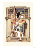 Scotsman with Drum and Flag Prints
