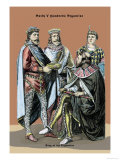 King of Byzantine, Sixth Century A.D. Print by Richard Brown
