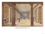 College Library, Dublin, 1793 Prints by James Malton