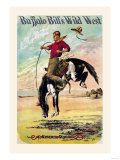 Buffalo Bill: A Bucking Bronco Premium Giclee Print
