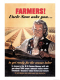 Farmers! Uncle Sam Asks You Poster by Jerome Rogen