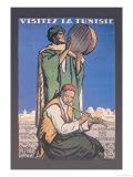 Visitez la Tunisie: Visit Tunisia Print by Jacques de la Neziere