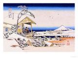 View of Mount Fuji in Winter Foto von Katsushika Hokusai