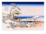 View of Mount Fuji in Winter Art by Katsushika Hokusai