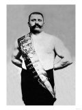 Bodybuilder Wearing Bandolier of Victory Posters