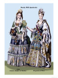 Zidmila Sophia of Sweden and Elizabeth of Bern, 18th Century Posters by Richard Brown