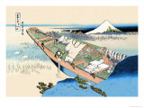 House Boat Prints by Katsushika Hokusai