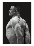 Flexing Triceps, Deltoids, and Trapezius Poster