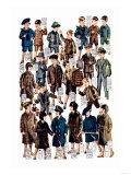 Little Boys Modeling Garments Prints