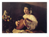 Musician Playing Lute Prints