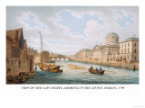 View of the Law Courts, Looking Up the Liffey, Dublin, 1799 Prints by James Malton