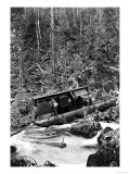 Logging Boat in a Tangle Premium Giclee Print by Clark Kinsey