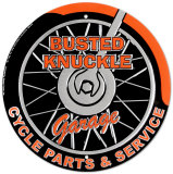 Busted Knuckle Garage Tin Sign