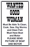 Good Woman Tin Sign