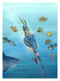 Deep Sea Fishing Giclee Print by Gary Patterson