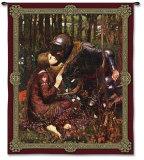 La bella dama sin piedad Tapiz por John William Waterhouse