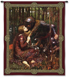 La Belle Dame Sans Merci Wall Tapestry by John William Waterhouse