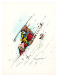 Downhill Racer Giclee Print by Gary Patterson