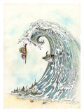 Over the Falls Giclee Print by Gary Patterson