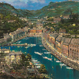 Portofino Twilight Prints by Mario Sanzone