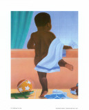 Bath Time Boy Poster by Stanley Morgan