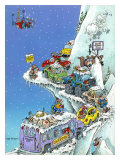 Ski Fever Giclee Print by Gary Patterson