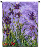 Irises Wall Tapestry by Claude Monet