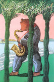 San Diego Jazz Festival Collectable Print by Milton Glaser