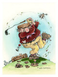 Full Swing- The Golfer Giclee Print by Gary Patterson