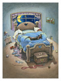 Bed Hog Giclee Print by Gary Patterson