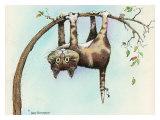 Wat nu, kat op de kop aan tak hangend Gicléedruk van Gary Patterson