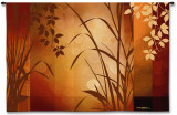 Flaxen Silhouette Wall Tapestry by Edward Aparicio