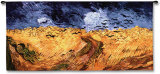 Wheatfields with Crows Wall Tapestry by Vincent van Gogh