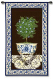 Ivy Topiary II Wall Tapestry by Spivey