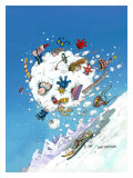 Snowballing Giclee Print by Gary Patterson