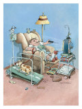 Armchair Athlete Giclee Print by Gary Patterson