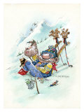 Ski Bum Giclee Print by Gary Patterson
