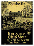 Ohio State vs. Kenyon, 1929 Giclee Print