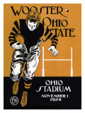 Ohio State vs. Wooster, 1924 Giclée-tryk