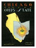 Ohio State vs. Chicago, 1922 Giclée-tryk