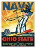 Ohio State vs. Navy, 1931 Giclée-tryk